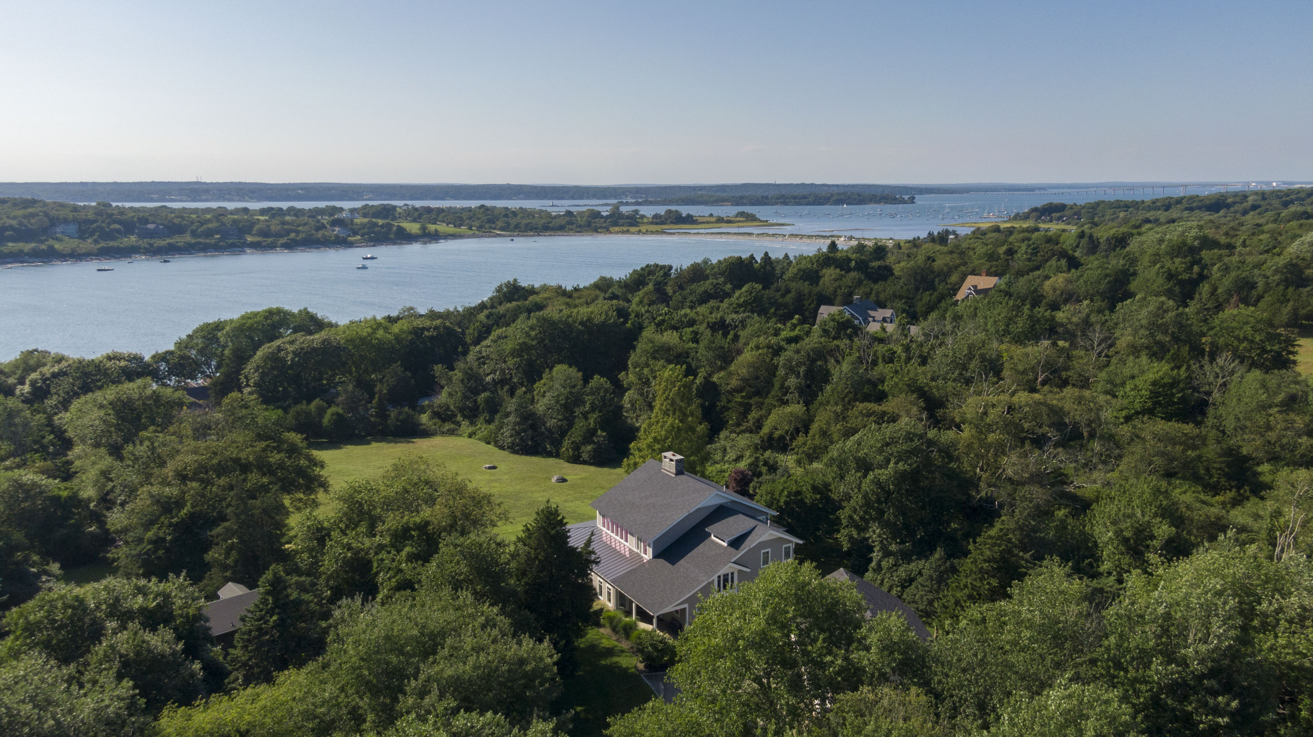 BOB BAILEY OF LILA DELMAN SELLS DUMPLINGS/COTTRELL FARM AREA CONTEMPORARY WITH GUEST HOME & BUILDABLE LOT FOR $3,375,000