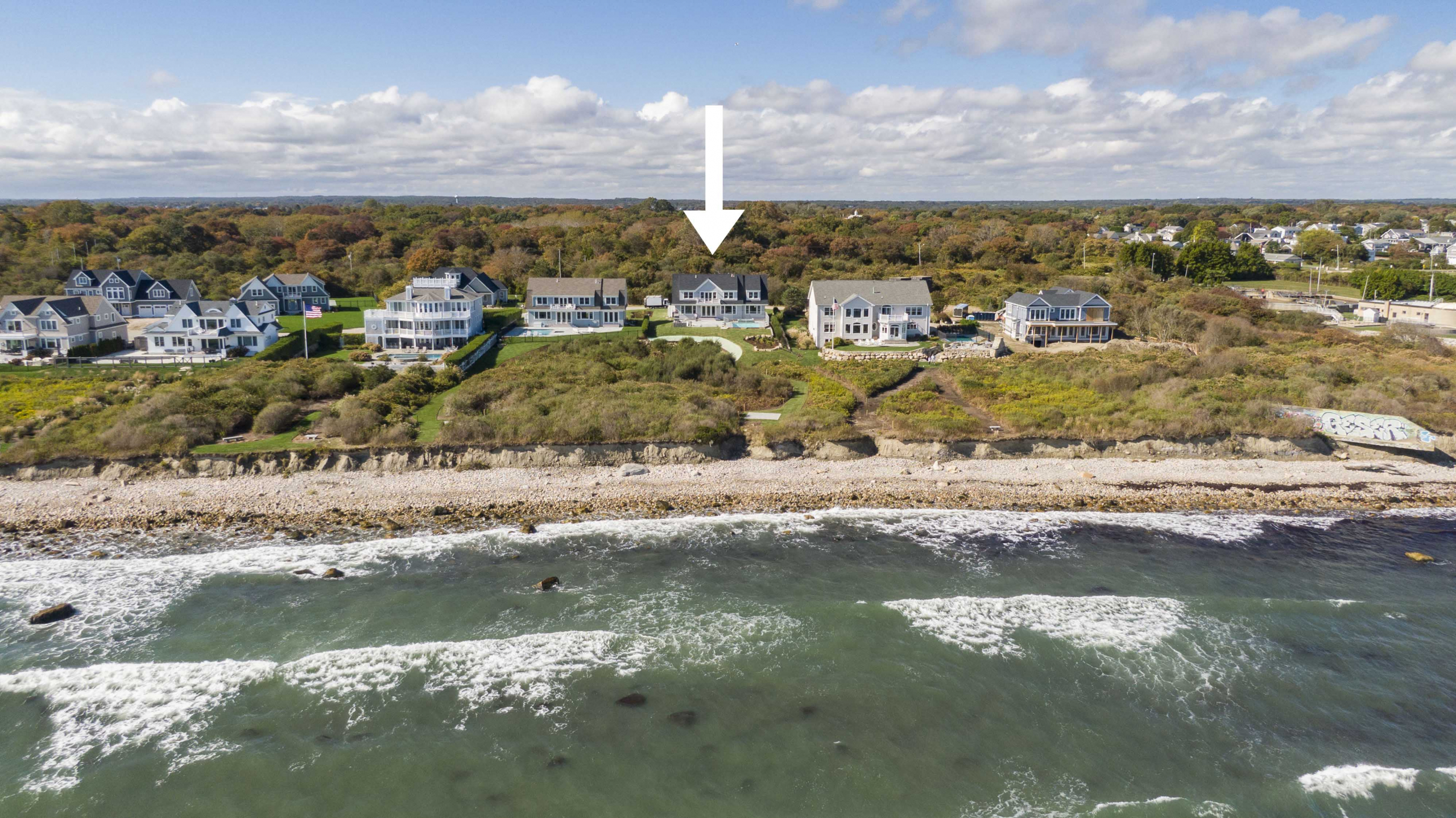WATERFRONT NEW CONTRUCTION ON OCEAN ROAD SELLS FOR $3,332,812