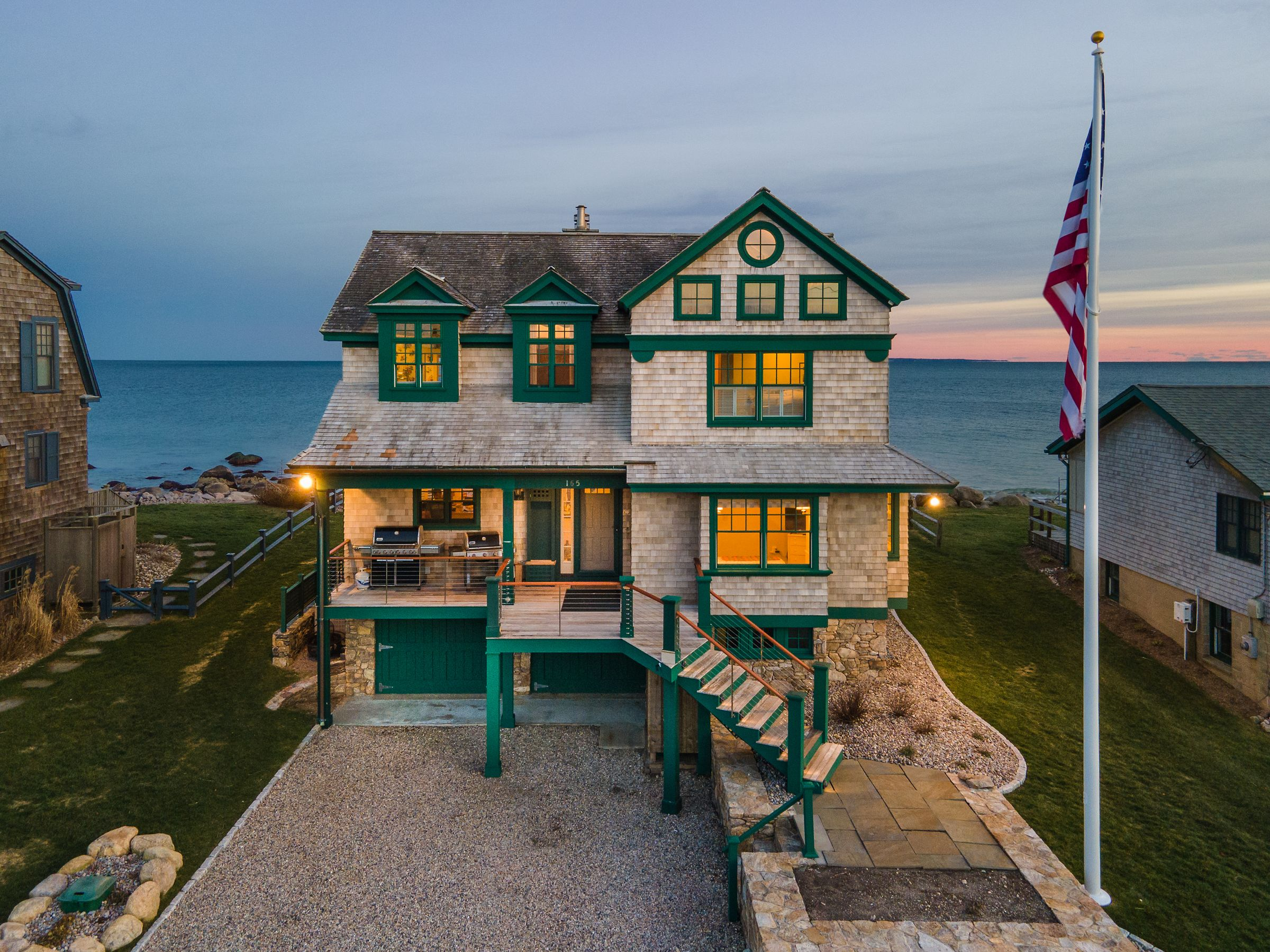 Charming Oceanfront Home in the Ocean State Asks $4.29M