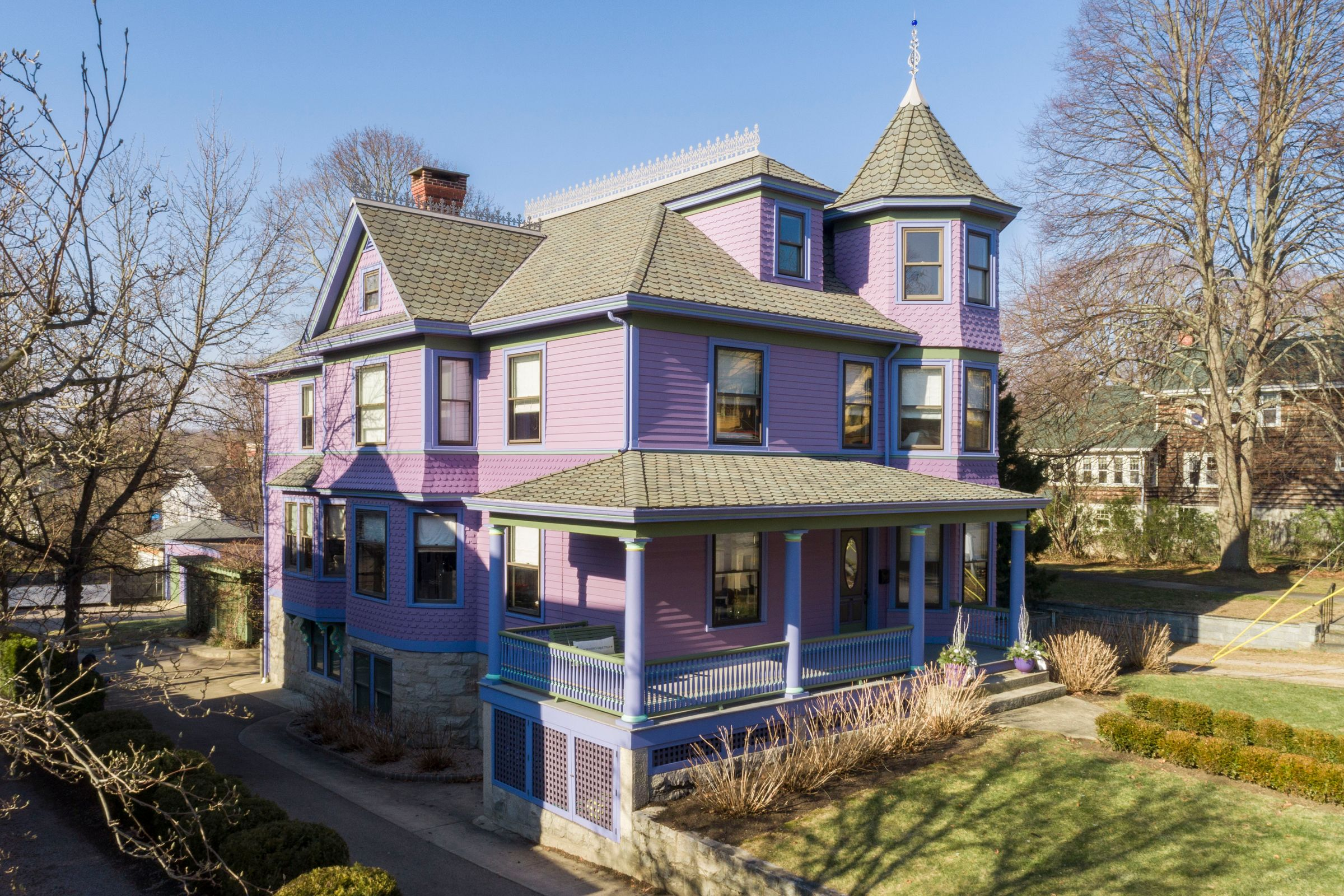 HOUSE LUST: A PURPLE VICTORIAN IS ON THE MARKET IN WESTERLY